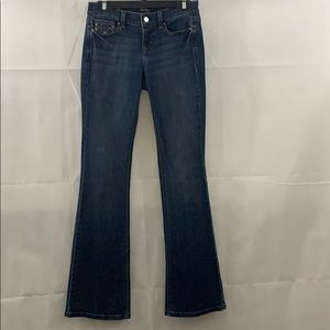 WHBM NOIR flare leg jeans